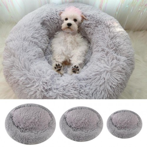 Calming Shag Vegan Fur Donut Cuddler -