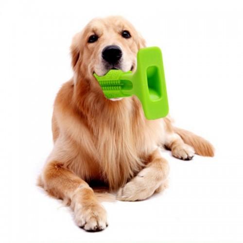 2018 Dog Toothbrushbrush for Dogs Hygiene Toy Brushing Stic Pet Toothbrush LARGE