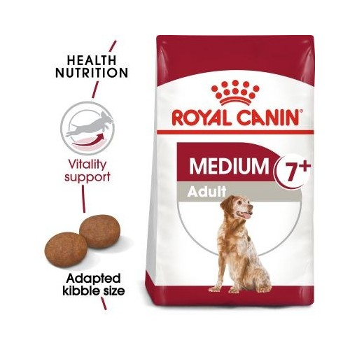 Royal Canin Medium Adult 7+ Dry Dog Food 4kg SHN Medium Adult7+ 4kg