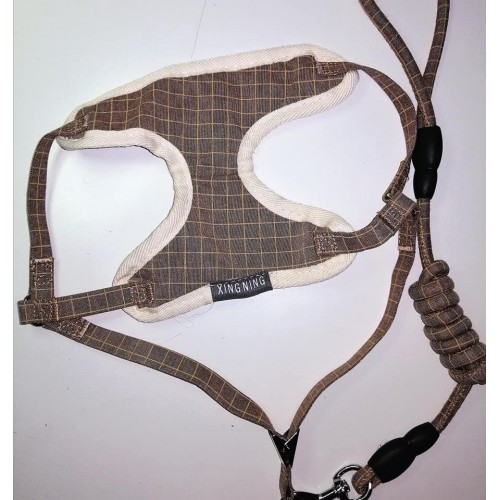 dog harness BROWN