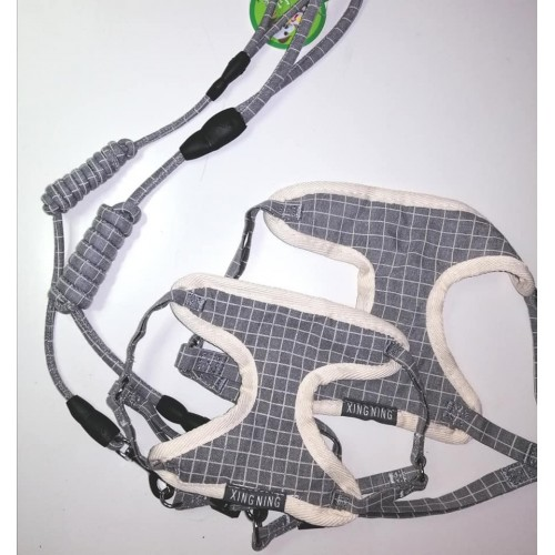 dog harness GREY