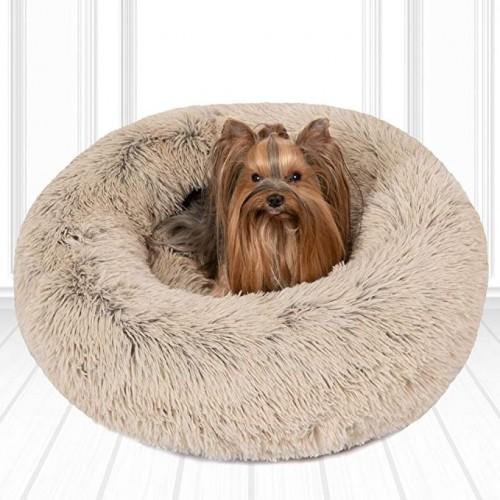 Orthopedic Dog Bed Comfortable Donut Cuddler DOG BED Brown