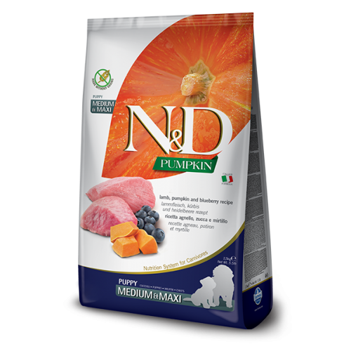 N&D Lamb & Blueberry Puppy Medium & Maxi 2,5kg