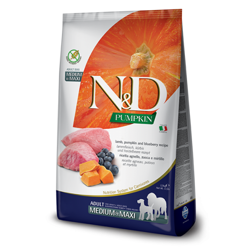N&D Lamb & Blueberry Adult Medium & Maxi 12kg