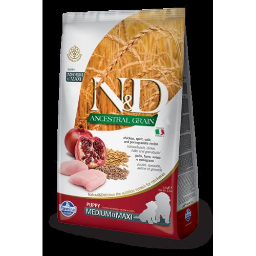 N&D Chicken & Pomegranate Puppy Medium & Maxi 12kg