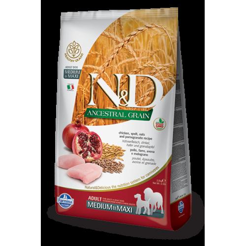 N&D Chicken & Pomegranate adult medium & maxi 2.5kg
