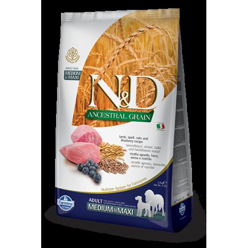 N&D Lamb & Blueberry Adult medium & maxi 2,5kg