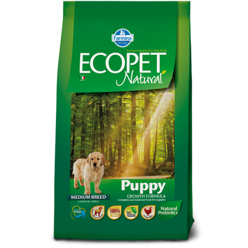 ECOPET Natural Puppy Medium 2.5kg