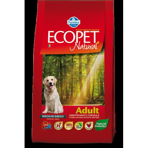 ECOPET Natural Adult Medium 12kg+2kg
