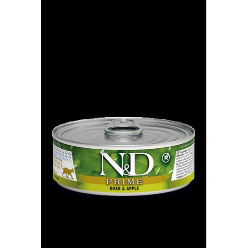 PRIME  Boar & Apple Wet food 80g (6+6ΔΩΡΟ)