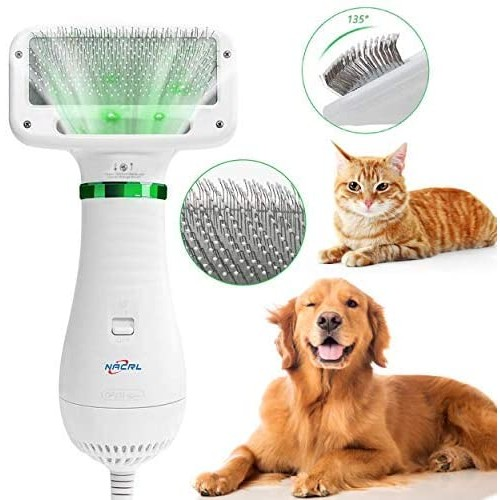 Dog Hair Dryer Pet Dryer Professional Grooming Blower Dog Slicker Brush for Large Medium Small Dog Cat Dog Hair Drye
