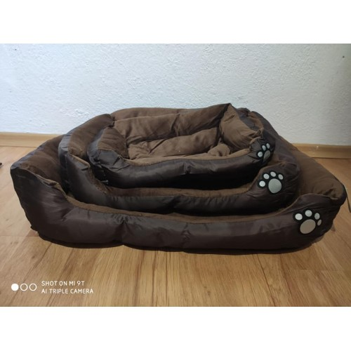 DOG BED DARK BROWN