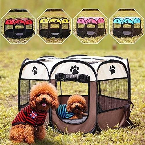 Portable Folding Pet Big Tent Dog House Cage Dog Cat Tent