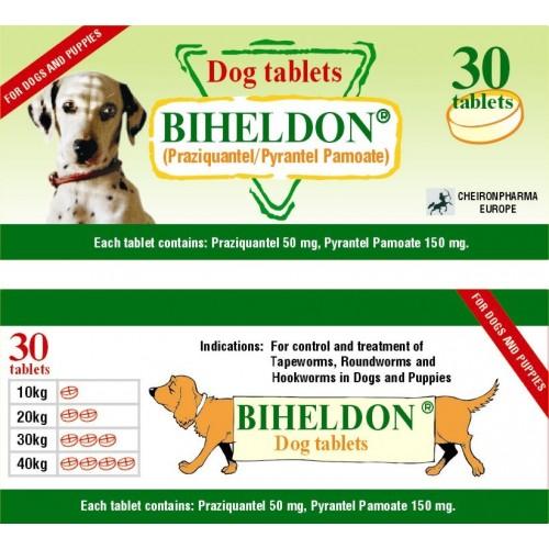 OFFER!! BIHELDON Tablets Dog and Cat Wormer